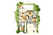 Contemporary Style House Plan - 3 Beds 3.5 Baths 2090 Sq/Ft Plan #942-49 Floor Plan - Main Floor Plan