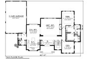 Traditional Style House Plan - 4 Beds 4.5 Baths 3346 Sq/Ft Plan #70-1184 Floor Plan - Main Floor Plan