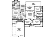 Country Style House Plan - 4 Beds 2.5 Baths 2393 Sq/Ft Plan #21-378 Floor Plan - Main Floor Plan