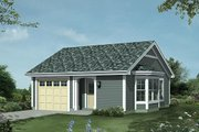 Traditional Style House Plan - 1 Beds 1 Baths 421 Sq/Ft Plan #57-397 Exterior - Front Elevation