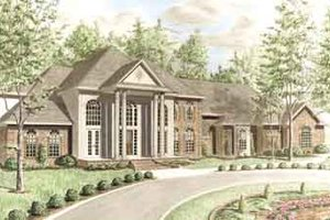 Architectural House Design - Southern Exterior - Front Elevation Plan #34-201