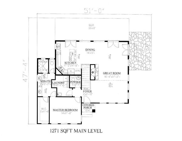 Modern Floor Plan - Main Floor Plan Plan #437-55
