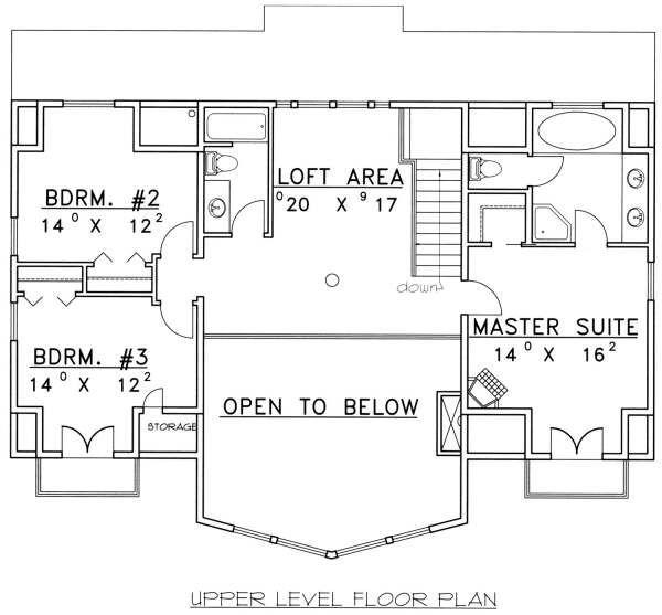Cabin Floor Plan - Upper Floor Plan Plan #117-573