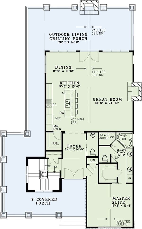Country Floor Plan - Main Floor Plan Plan #17-2533