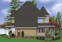 Architectural House Design - Rear View - 2400 square foot Country Home