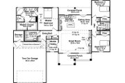 Craftsman Style House Plan - 3 Beds 2 Baths 1801 Sq/Ft Plan #21-447 Floor Plan - Main Floor