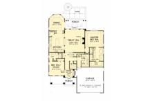 Craftsman Floor Plan - Main Floor Plan Plan #929-1061