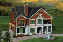 Dream House Plan - Bungalow Exterior - Front Elevation Plan #70-1058