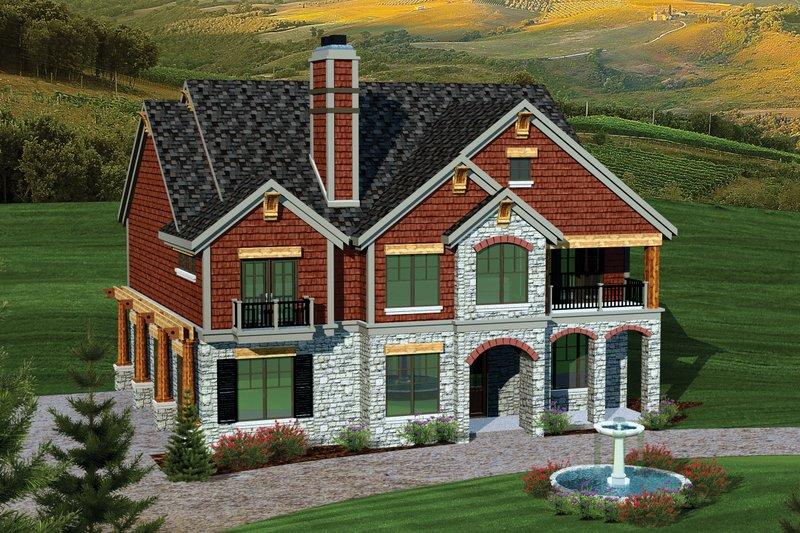 Bungalow Exterior - Front Elevation Plan #70-1058 - Houseplans.com