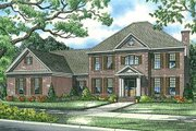 Colonial Style House Plan - 5 Beds 3.5 Baths 3978 Sq/Ft Plan #17-1182 Exterior - Front Elevation
