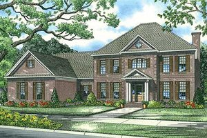 Colonial Exterior - Front Elevation Plan #17-1182
