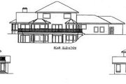 European Style House Plan - 4 Beds 3.5 Baths 3617 Sq/Ft Plan #60-643 Exterior - Other Elevation