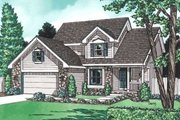 Traditional Style House Plan - 4 Beds 2.5 Baths 1844 Sq/Ft Plan #20-580 Exterior - Front Elevation