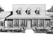 Dream House Plan - Southern Exterior - Other Elevation Plan #3-176