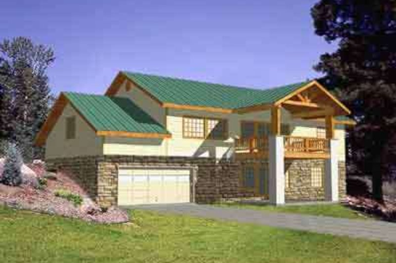 Traditional Exterior - Front Elevation Plan #117-304 - Houseplans.com