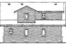 House Blueprint - Bungalow Exterior - Rear Elevation Plan #47-515
