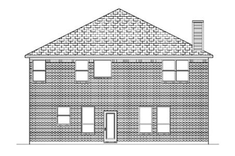 Traditional Exterior - Rear Elevation Plan #84-383 - Houseplans.com