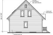 Cottage Style House Plan - 3 Beds 1.5 Baths 1381 Sq/Ft Plan #23-579 Exterior - Rear Elevation