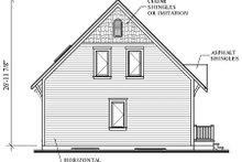 Cottage Exterior - Rear Elevation Plan #23-579