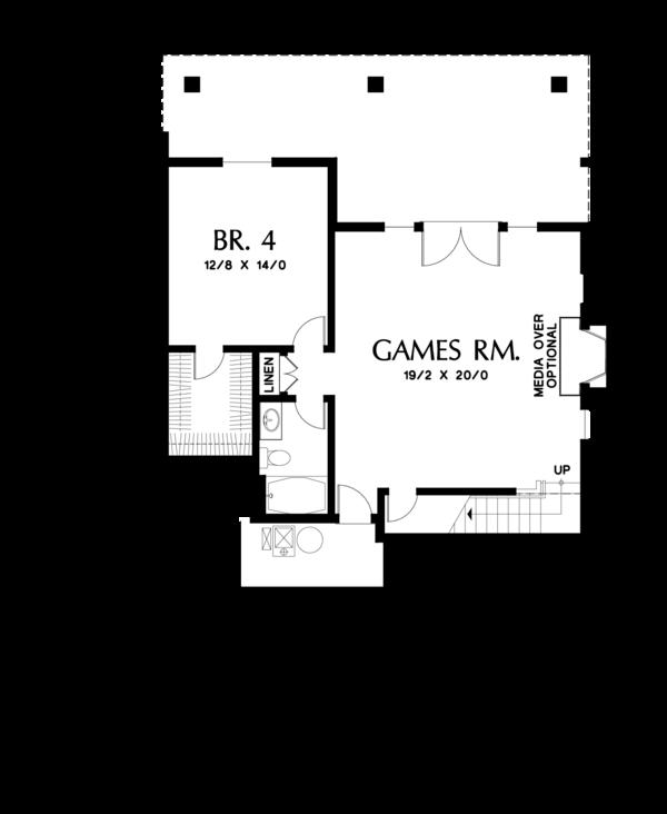 House Plan Design - Craftsman Floor Plan - Lower Floor Plan #48-670