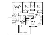 Traditional Style House Plan - 4 Beds 3.5 Baths 2738 Sq/Ft Plan #20-2406 Floor Plan - Upper Floor