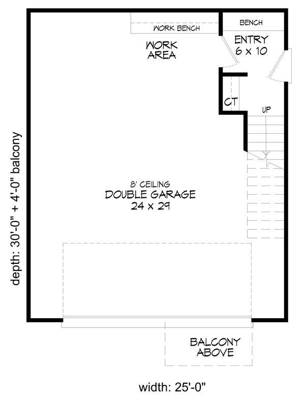 Contemporary Floor Plan - Main Floor Plan Plan #932-293