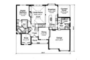 Traditional Style House Plan - 4 Beds 2.5 Baths 2546 Sq/Ft Plan #46-879 Floor Plan - Main Floor Plan