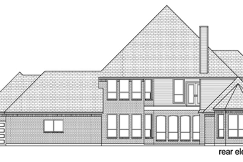 European Exterior - Rear Elevation Plan #84-509 - Houseplans.com