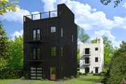 Contemporary Style House Plan - 2 Beds 2.5 Baths 1384 Sq/Ft Plan #932-127