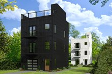 Architectural House Design - Contemporary Exterior - Front Elevation Plan #932-127