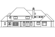 Home Plan - European Exterior - Rear Elevation Plan #124-461