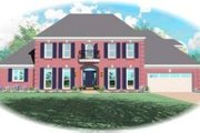 Colonial Style House Plan - 3 Beds 4 Baths 3668 Sq/Ft Plan #81-1201 Exterior - Front Elevation