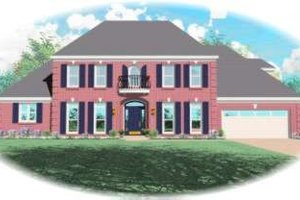 Colonial Exterior - Front Elevation Plan #81-1201