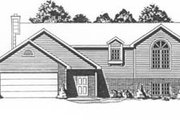 Traditional Style House Plan - 3 Beds 2 Baths 1146 Sq/Ft Plan #58-106 Exterior - Front Elevation