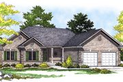 Traditional Style House Plan - 3 Beds 2 Baths 1617 Sq/Ft Plan #70-161 Exterior - Front Elevation