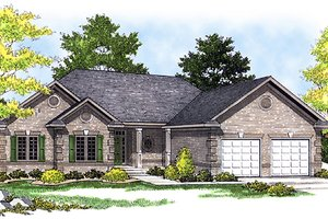 Traditional Exterior - Front Elevation Plan #70-161