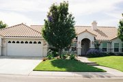 Mediterranean Style House Plan - 3 Beds 2 Baths 1739 Sq/Ft Plan #437-11 Exterior - Front Elevation