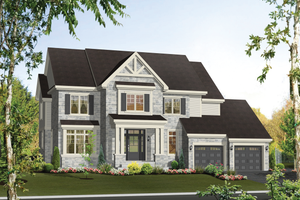 Country Exterior - Front Elevation Plan #25-4492