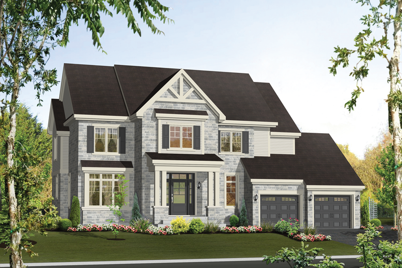 Country Style House Plan - 3 Beds 2 Baths 3212 Sq/Ft Plan #25-4492 Exterior - Front Elevation