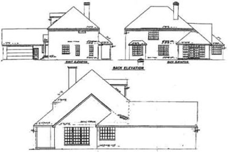 Colonial Exterior - Rear Elevation Plan #52-131 - Houseplans.com