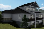 Traditional Style House Plan - 4 Beds 3.5 Baths 5212 Sq/Ft Plan #1060-69 Exterior - Rear Elevation
