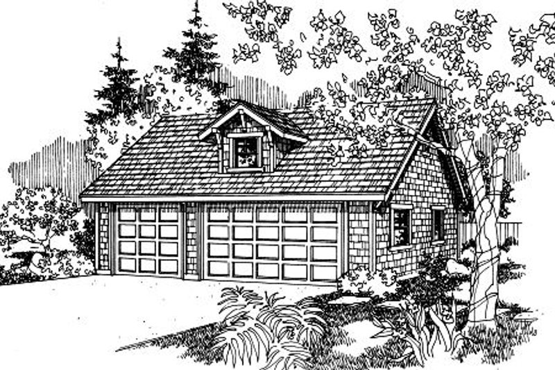 Craftsman Exterior - Front Elevation Plan #124-655