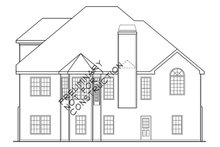 Dream House Plan - Traditional Exterior - Rear Elevation Plan #927-28