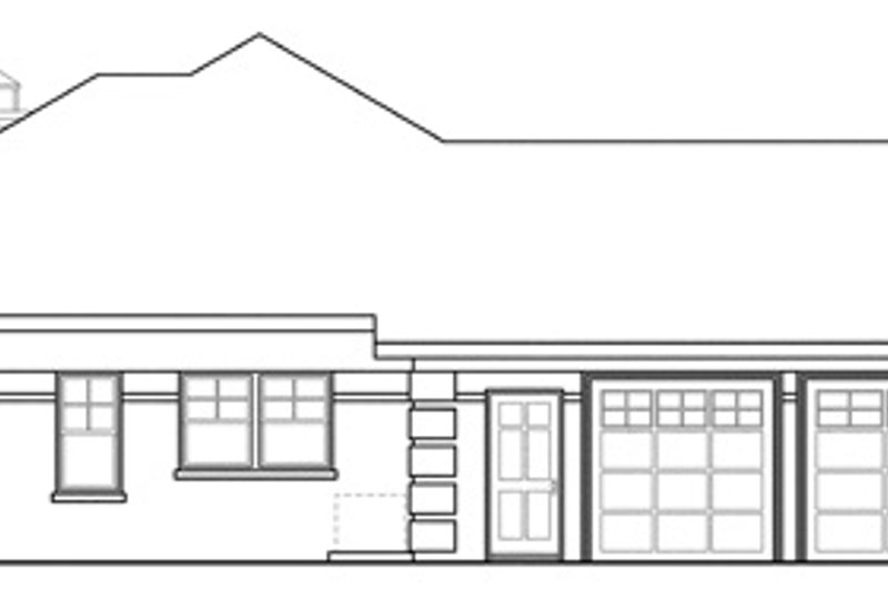 Traditional Exterior - Other Elevation Plan #124-885 - Houseplans.com