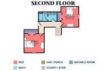 Country Floor Plan - Upper Floor Plan Plan #63-432