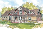 Craftsman Style House Plan - 4 Beds 3.5 Baths 2674 Sq/Ft Plan #124-582 Exterior - Front Elevation