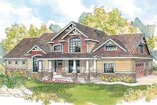 House Plan Design - Craftsman Exterior - Front Elevation Plan #124-582