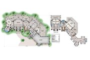 Contemporary Style House Plan - 4 Beds 5 Baths 7366 Sq/Ft Plan #27-573 Floor Plan - Main Floor
