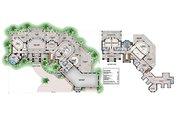 Contemporary Style House Plan - 4 Beds 5 Baths 7366 Sq/Ft Plan #27-573 Floor Plan - Main Floor