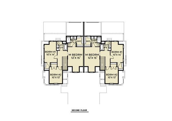 Farmhouse Floor Plan - Upper Floor Plan #1070-96